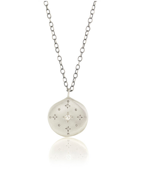 NEW! New Moon Diamond Pendant by Adel Chefridi