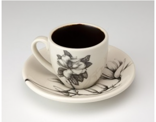 NEW! Espresso Cup & Saucer Sets in Multiple Designs by Laura Zindel