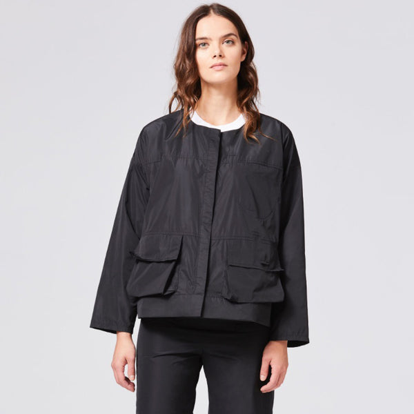NEW! Storm Jacket in Black Taffeta by Shosh