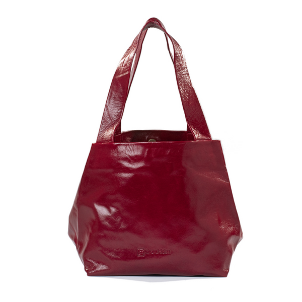 Small Leather Cube Bag in Multiple Colors by Kisim