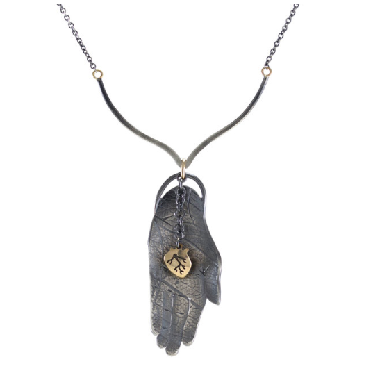 NEW! Open Hand and Heart Necklace by Luana Coonen