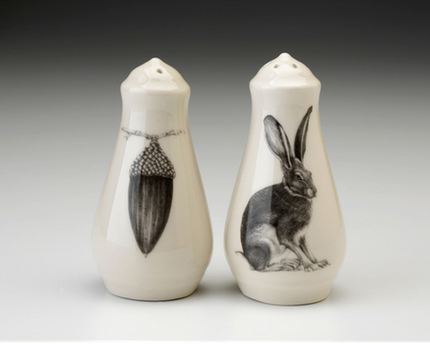 NEW! Sitting Hare Salt and Pepper Shakers by Laura Zindel