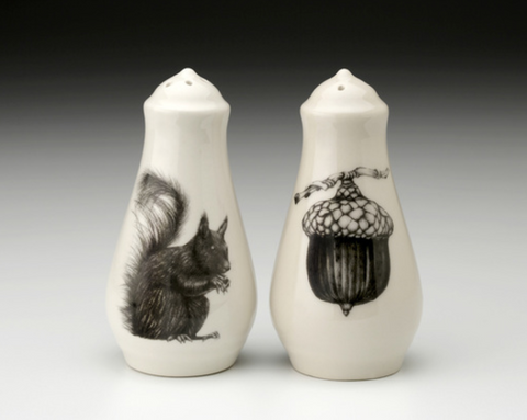 NEW! Squirrel & Nut Salt and Pepper Shakers by Laura Zindel