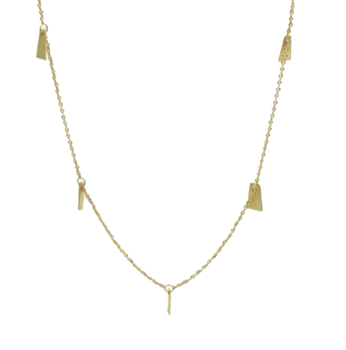 NEW! 14k Flutter Strand Necklace by Carla Caruso