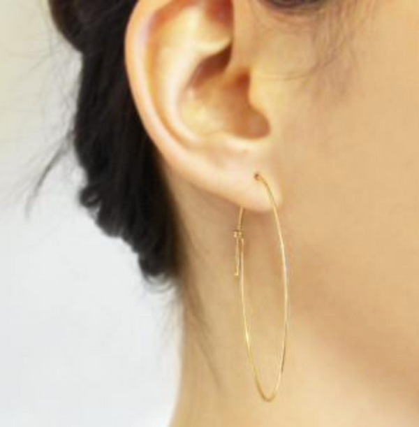 NEW! Oval Dainty Hoop Earrings by Carla Caruso