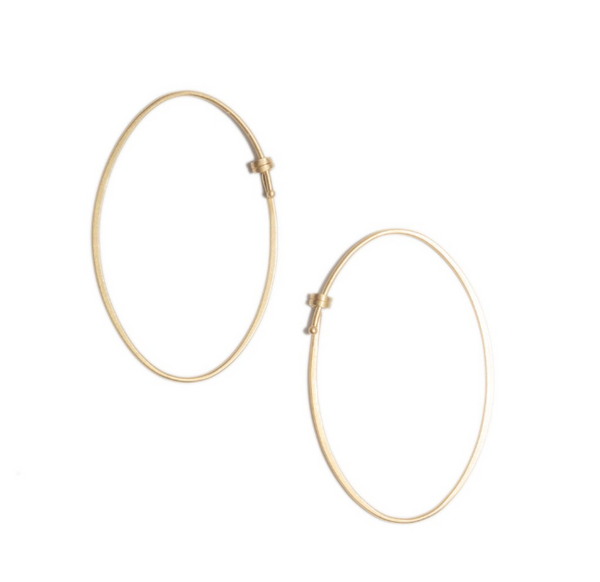 Small Oval Dainty Hoop Earrings by Carla Caruso