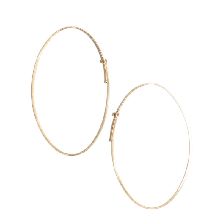 Oval Dainty Hoop Earrings by Carla Caruso