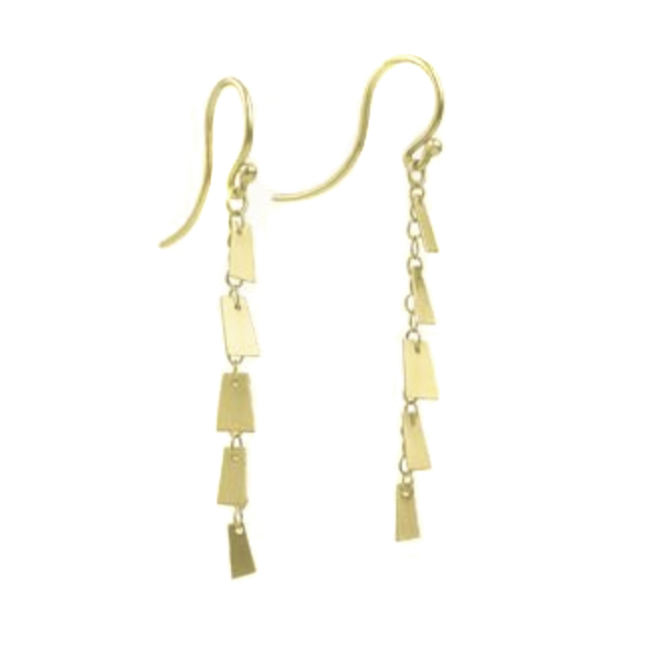 NEW! 14k Flutter Strand Earrings by Carla Caruso