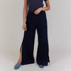 NEW! Ample Slit Trouser Pant in Navy by Shosh