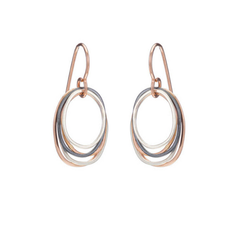 NEW! Mini Tri-Toned Oblong Earrings by Colleen Mauer Design