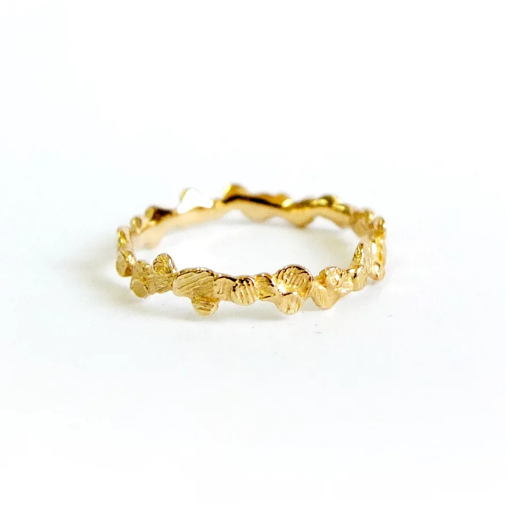 NEW! 14k Yellow Gold Single Petal Band by N+A