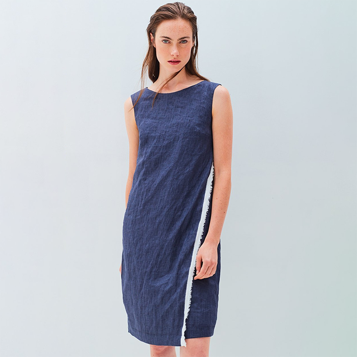 SALE! Nadine Dress in Indigo by Veronique