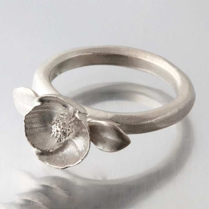 Small Poppy Ring by EAM
