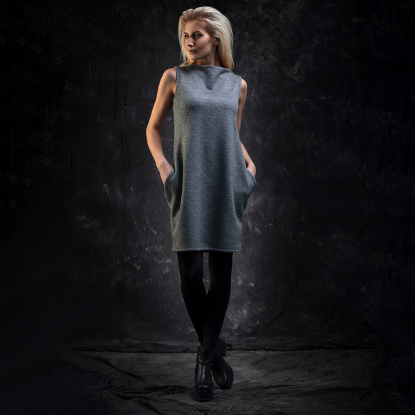 NEW! Grey Tunic with Pockets by Karaka