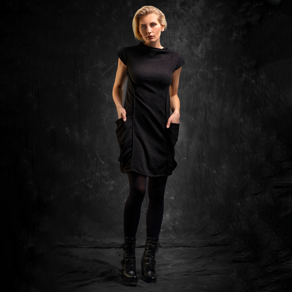SALE! Black Tunic with Pockets by Karaka