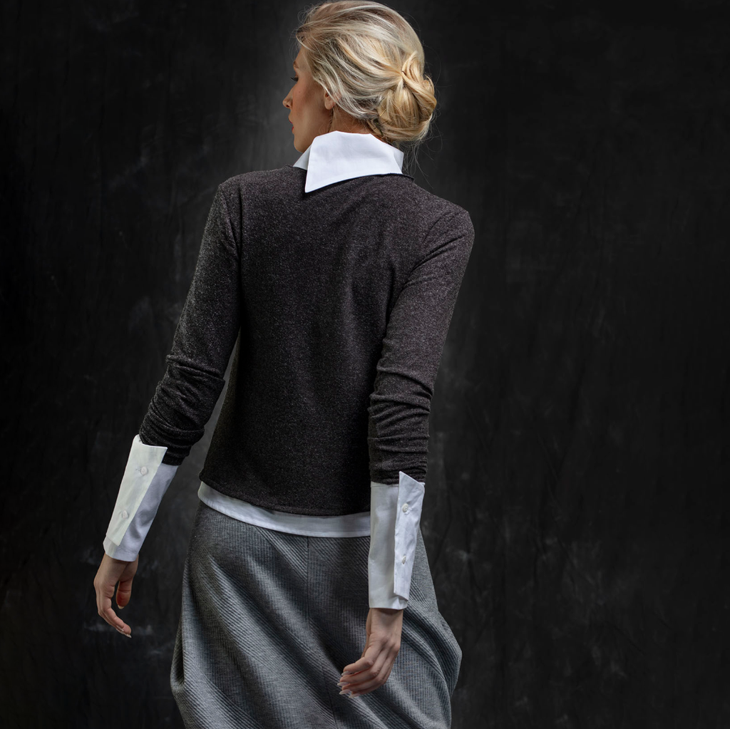 NEW! Dark Grey Long Sleeve Top by Karaka