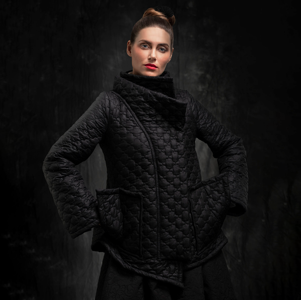 SALE! Sculptural Black Winter Jacket by Karaka