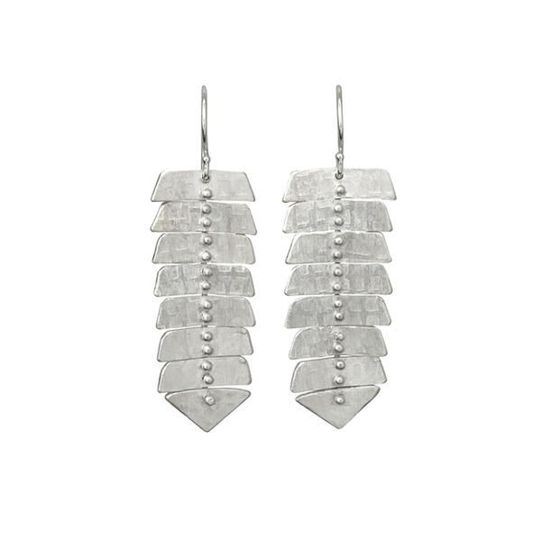 NEW! Slim Fishbone Stud Earrings by Sarah Swell