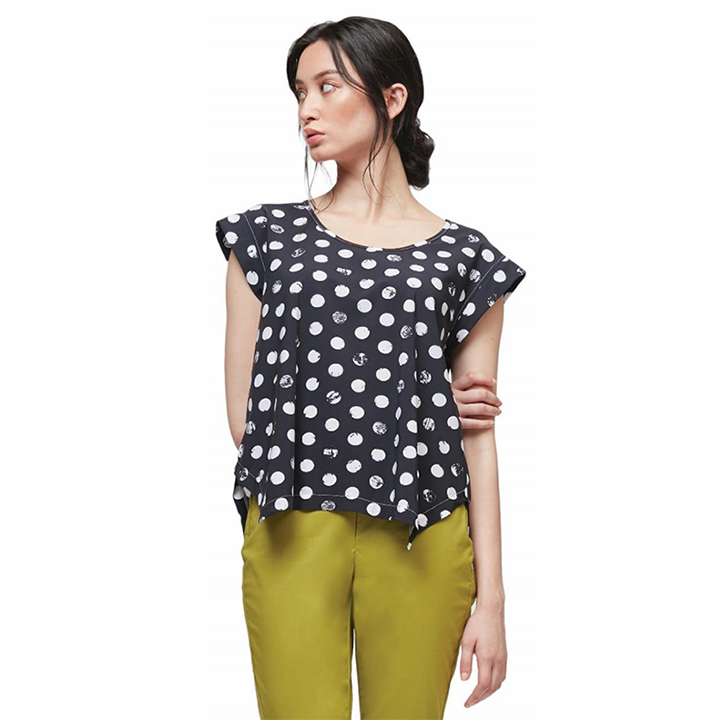 NEW! Metier Top in Shadow Edo Dot Print by Porto
