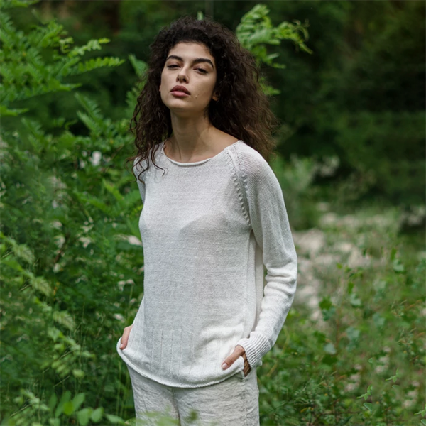 NEW! Roundneck Pullover Sweater in Natural by MJ Watson