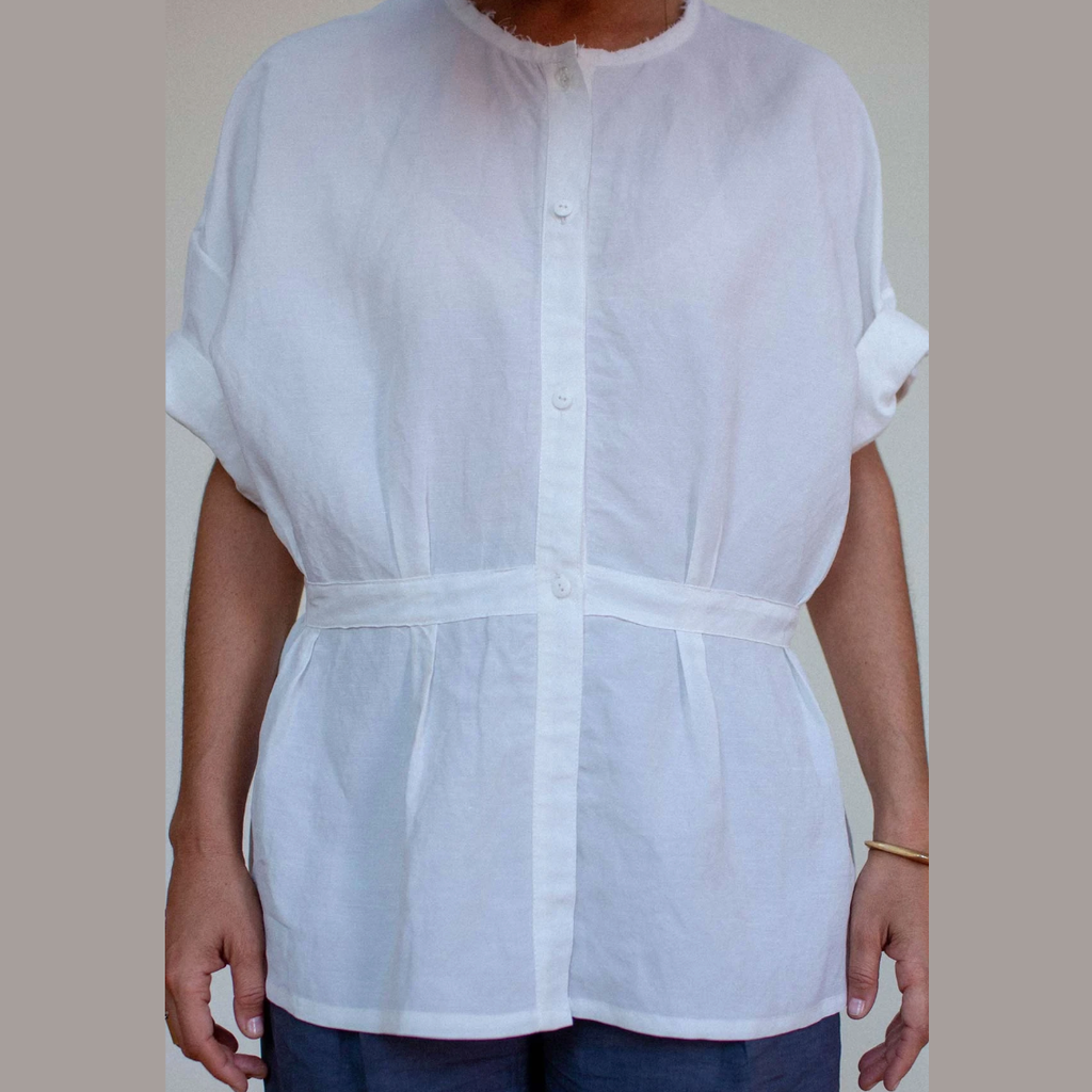 SALE! Shaped Shirt in White by Shosh