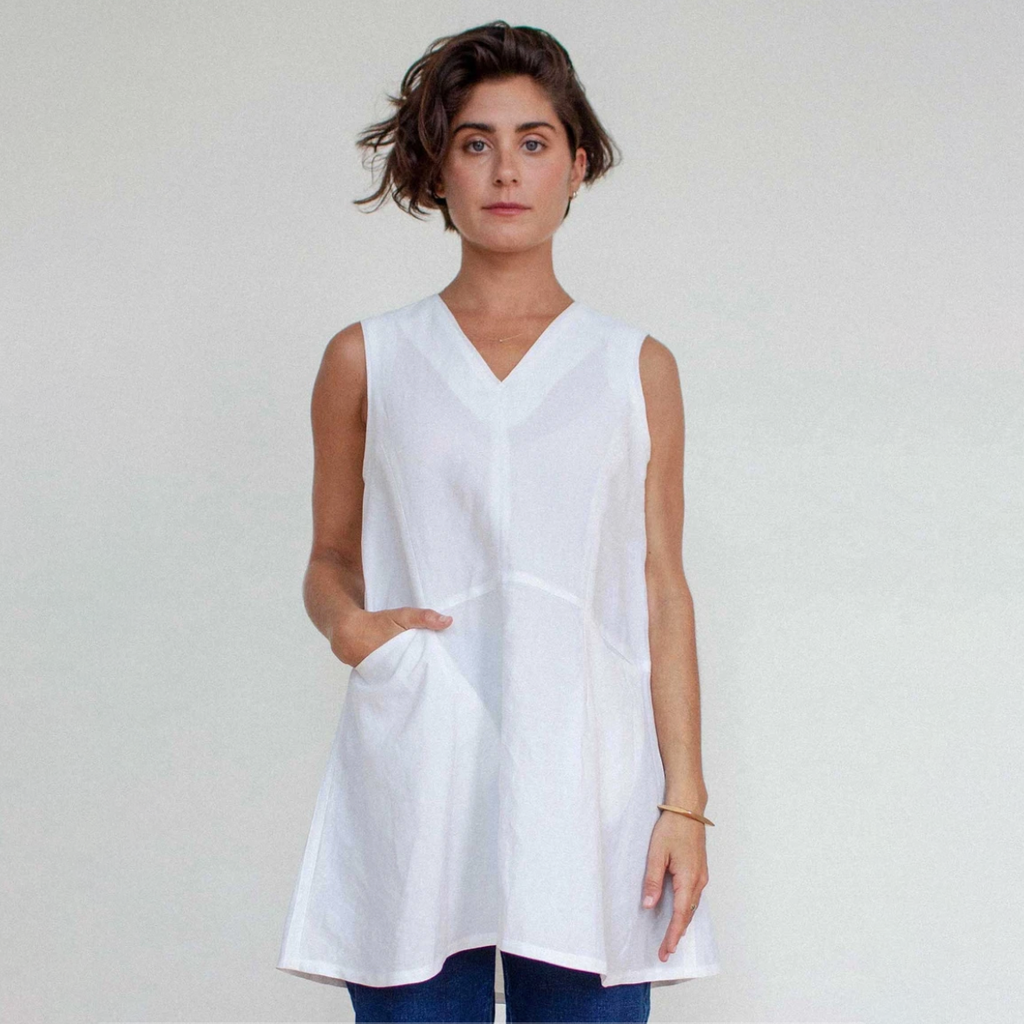 SALE! Vera Tunic in White by Shosh