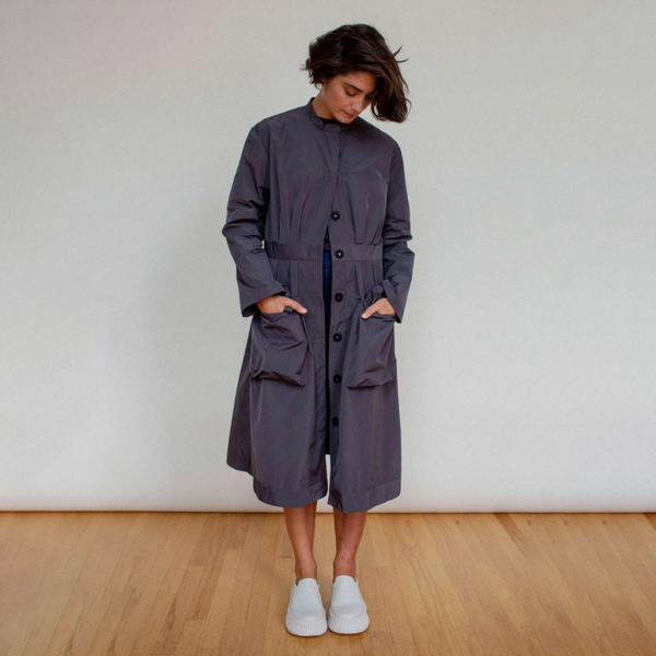 NEW! Shaped Rain Coat in Charcoal by Shosh