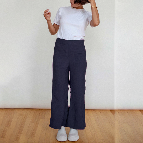 NEW! Cropped Flare Pant in Charcoal by Shosh