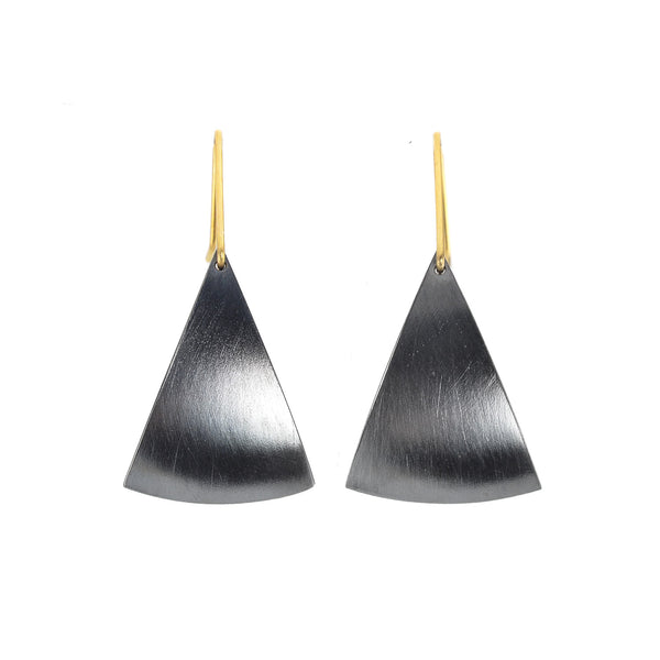 NEW! Spinnaker Large Earrings Oxidized Silver by Thea Izzi