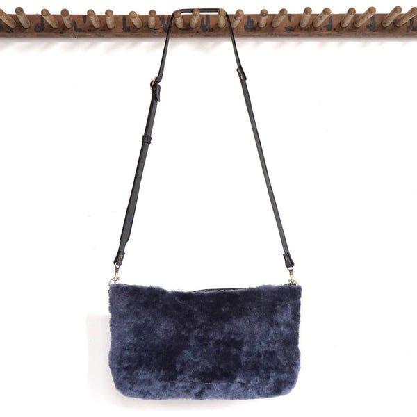 Marias Shearling Clutch & Muff by Stitch & Tickle - Fire Opal - 1