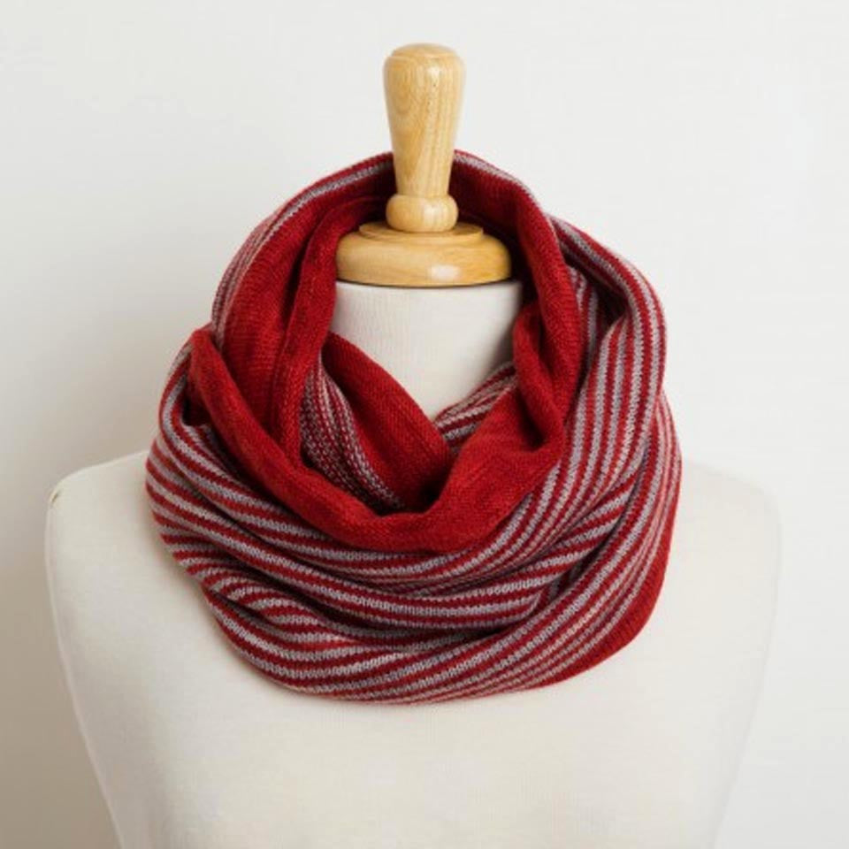 Cafe Cowl in Cayenne/Pewter by Swans Island - Fire Opal - 1