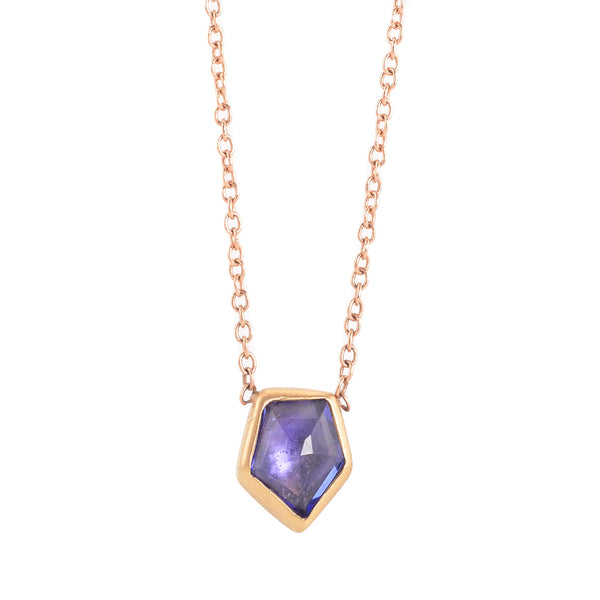 NEW! Geo Tanzanite Necklace by Marion Cage