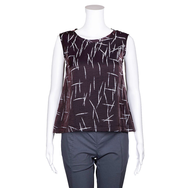 SALE! Merryl Top in Brown & White Pattern by Veronique