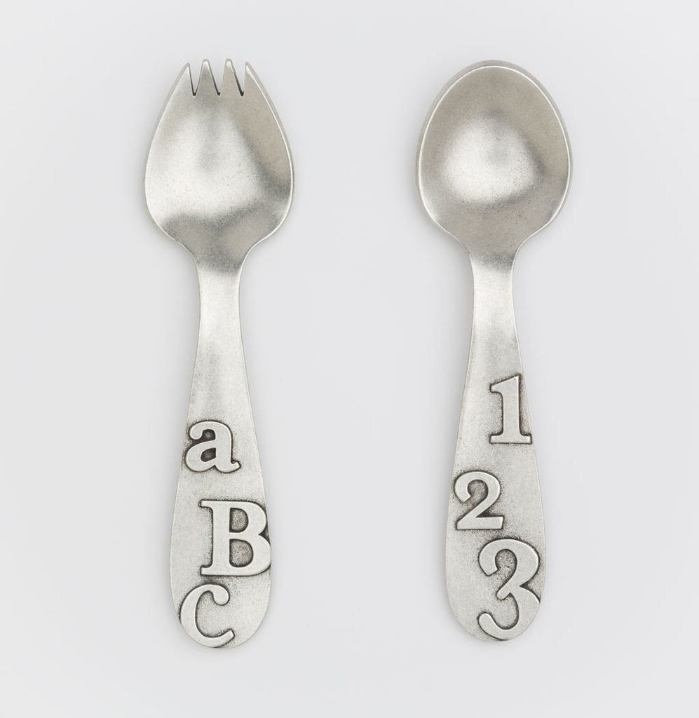 NEW! ABC/123 Baby Spork and Spoon Set by Beehive