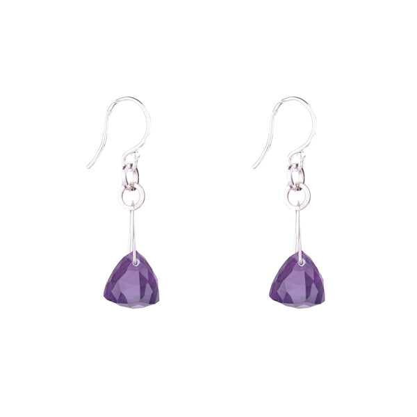 NEW! Stirrup Pyramid Amethyst Earrings by Serena Kojimoto