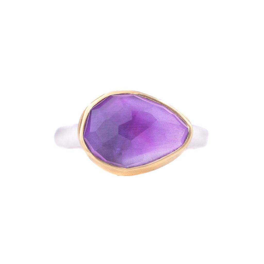 NEW! One of a Kind Rose Cut Amethyst Ring by Heather Guidero