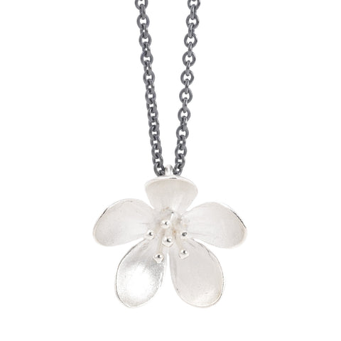 NEW! Silver Apple Blossom Pendant Necklace by EAM