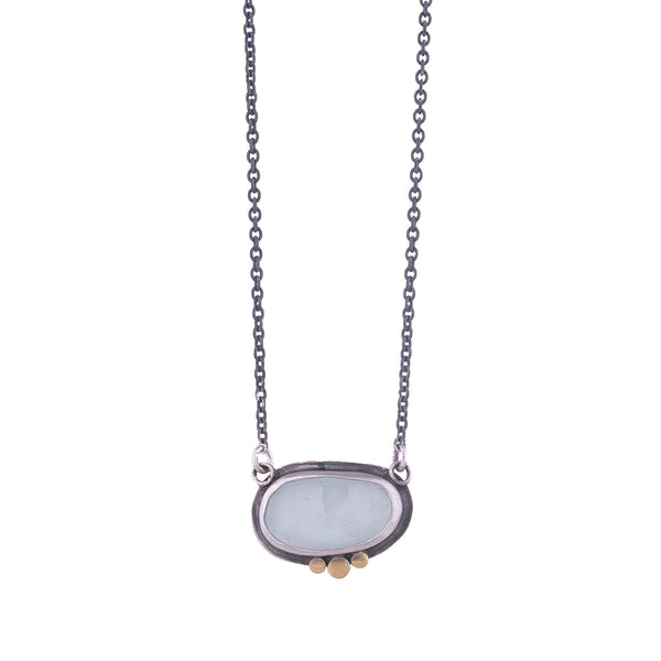 NEW! Rosecut Aquamarine Necklace by Ananda Khalsa