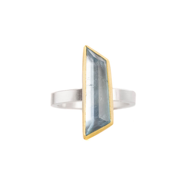 NEW! Aquamarine Geometric Ring by Sam Woehrmann