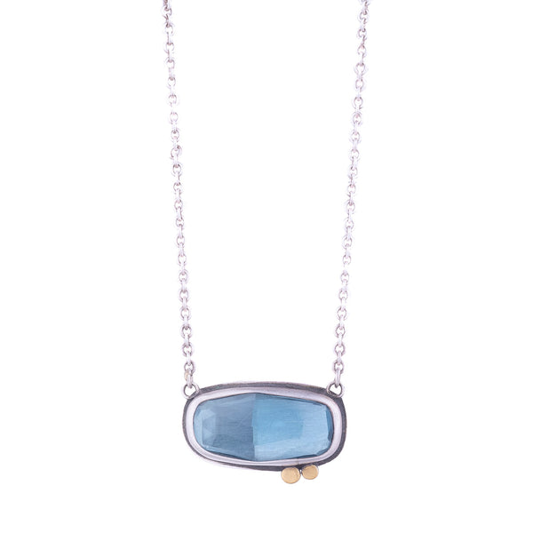 NEW! Rosecut London Blue Topaz Necklace by Ananda Khalsa
