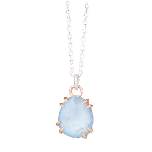 NEW! Faceted Aquamarine Vanity Necklace by Hannah Blount