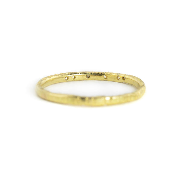NEW! 18ky Gold Aspen Stacker Ring by Kate Maller