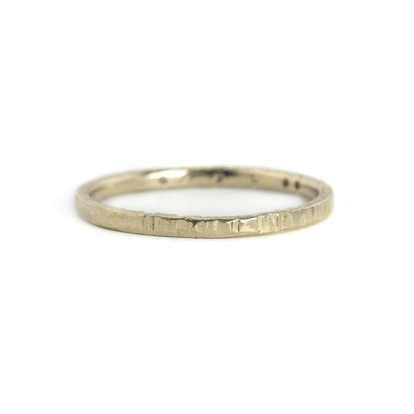 NEW! 14ky White Gold Aspen Stacker Ring by Kate Maller