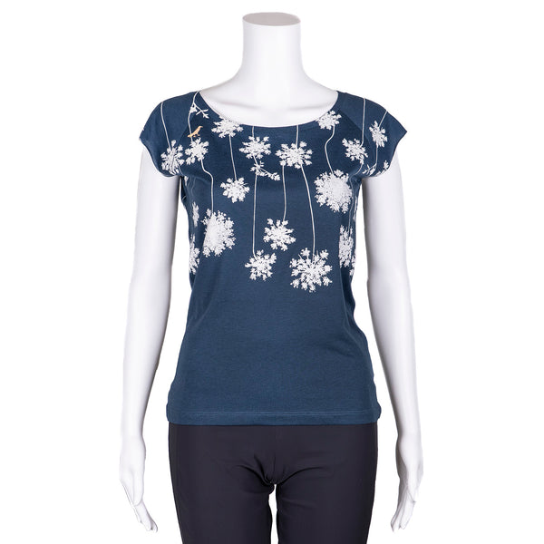 NEW! Denim Pompom T-Shirt by Umsteigen