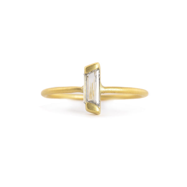 Baguette Diamond Stacking Ring by Marion Cage