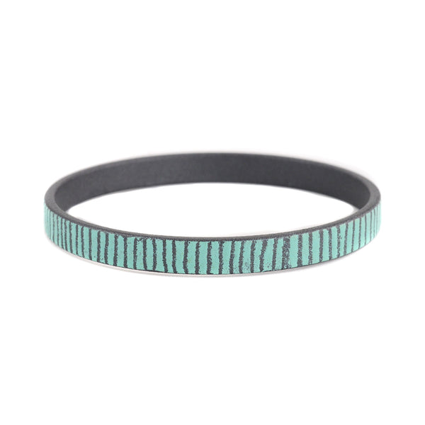 Mid Width Bamboo Bangles in Turquoise by Mary + Lou Ann