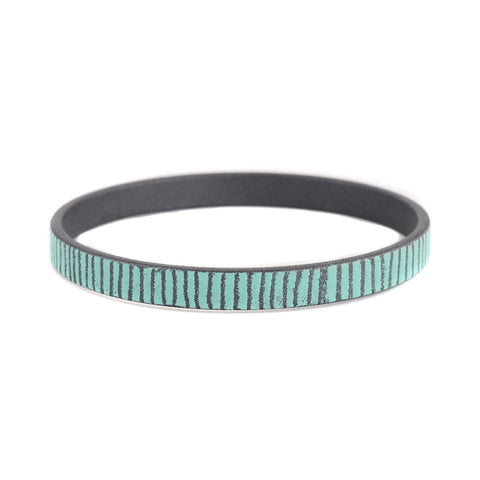 NEW! Mid Width Bamboo Bangles in Turquoise by Mary + Lou Ann