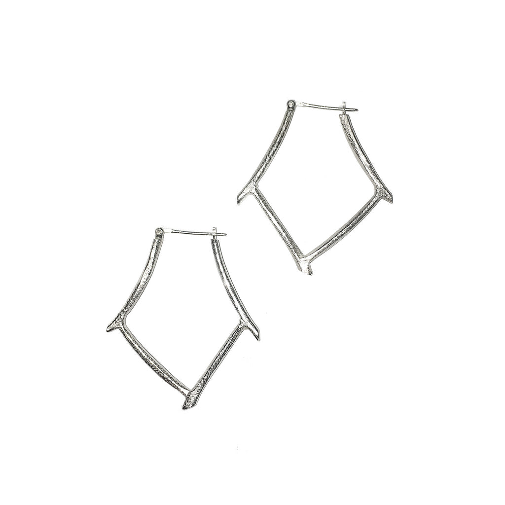 Sterling Silver Bamboo Earrings by Dahlia Kanner