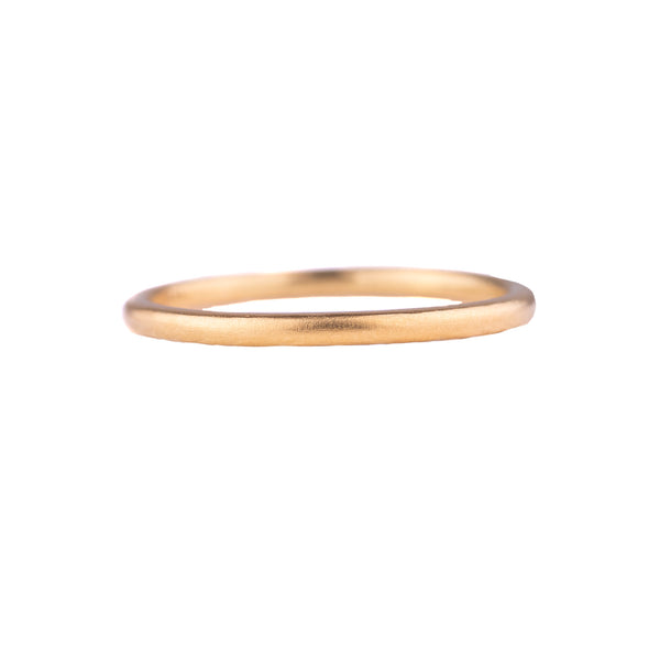 NEW! Yellow Gold Brushed Simple Band by Sarah Swell