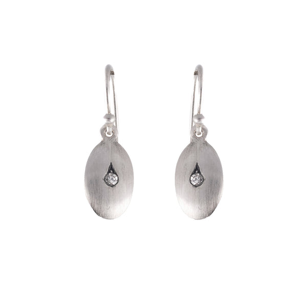 NEW! Baran Silver Grey Diamond Earrings by Dan-Yell